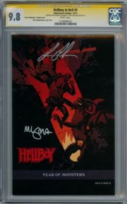Hellboy In Hell #1 Variant CGC 9.8 Signature Series Signed Mike Mignola Ron Perlman Dark Horse